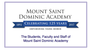 The Students, Faculty and Staff of Mount St. Dominic Academy
