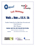 Fulton County JFS & Adriel's 1st Annual Walk & Run for F.U.N. (Families Uniting Now for Child Abuse Prevention and Fraud Awareness)