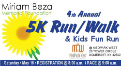 Miriam Beza 5k Run/Walk and Kids Fun Run