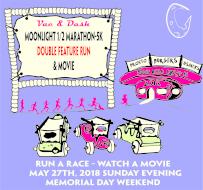 Vac & Dash Moonlight 1/2 Marathon, 5K, Movie & Double Feature Run