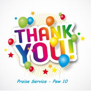 Praise Service - Pew 10