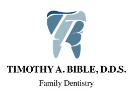 Timothy A. Bible, D.D.S.