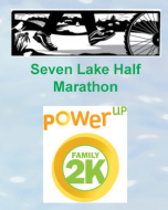 Seven Lake Half-Marathon and PowerUp Family 2K