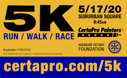Ardmore Rotary 5K Race Around the Square Hosted by CertaPro Painters