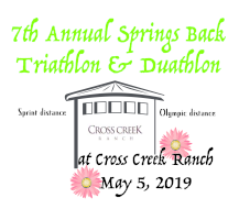 7th Annual Springs Back Triathlon and Duathlon