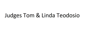 Judges Tom & Linda Teodosio