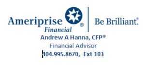 Andrew Hanna - Ameriprise Financial