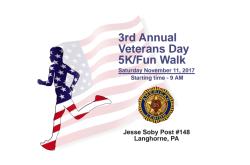 Langhorne American Legion Veteran's Day 5K