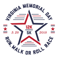 Virginia Memorial Day 12k & 5k Run, Walk or Roll