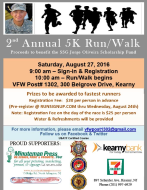 2nd Annual 5K Run/Walk (In Memory of SSG Jorge Oliveira)