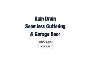 Rain Drain Seamless Guttering