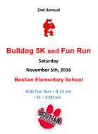 Bostian Elementary 5K Run/Walk and Fun Run