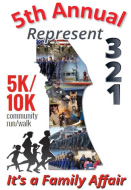 Represent (321) 5K/10K Community Run/Walk