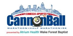 The Omega Sports Cannonball Marathon, Half Marathon & 5k