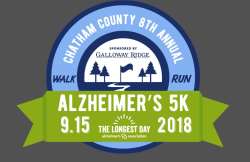 Chatham County Alzheimer's 5K Run/Walk ** Cancelled due to Hurricane Florence