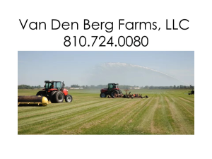 Van Den Berg Farms LLC