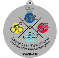 Laurel Lake Triathlon/Duathlon/Aquabike in honor of William Laubengeyer at Millville NJ *#