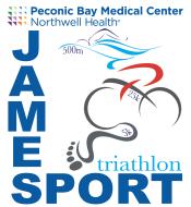 The PBMC Northwell Health Jamesport Triathlon Logo