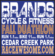 Cedar Creek Park Fall Duathlon Logo
