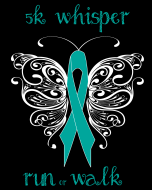 5k Whisper Run Walk. Logo