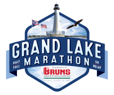 Grand Lake Marathon Full/Half/Relay/5k/Kid's Run Logo