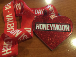 Valentine's Day On Honeymoon Island With Huge Honeymoon Heart Spinning Finisher's Medal LIMITED