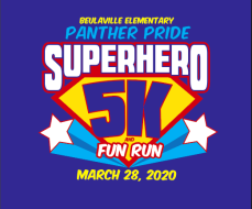 BES Panther Pride Super Hero 5K and Fun Run