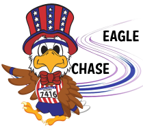 Eagle Chase at Fire on the River