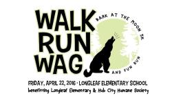 Walk Run Wag 5K & Fun Run Bark at the Moon with Longleaf Elementary and Hub City Humane Society