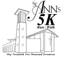 St. Ann's 5K Run/Walk