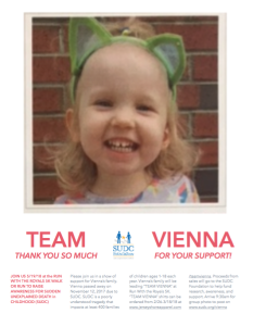 Team VIENNA for SUDC Awareness