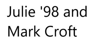 Julie and Mark Croft