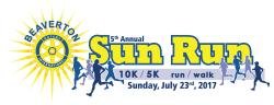 6th Annual Beaverton Sun Run