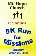 Mt. Hope Church 5K Run for Missions