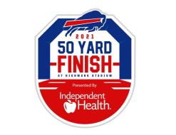 2021 Buffalo Bills 50 Yard Finish at Highmark Stadium Presented by Independent Health