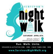 2nd Annual Survivors Night Walk 1k.5k.10k - Sexual Assault Awareness Walk