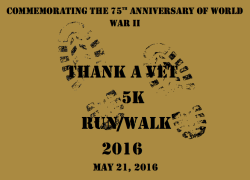 THANK A VET 5K RUN/WALK