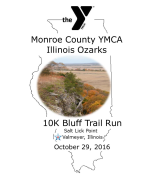 Monroe County YMCA-HTC Center Illinois Ozarks 10K Bluff Trail Run