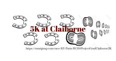 Bchs project grad claiborne 5k find a participant for A m motors paris ky