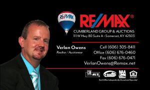Verlan Owens ReMax Cumberland Group and Auctions
