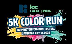 Farmington Founders Festival LOC Credit Union Color Run