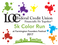 Farmington Founders Festival LOC Color Run