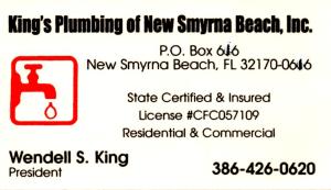 King's Plumbing of New Smyrna Beach, Inc.