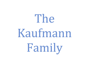 The Kaufmann Family