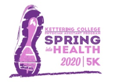 Kettering College SPRING INTO HEALTH 5k - Race CANCELLED for 2020!