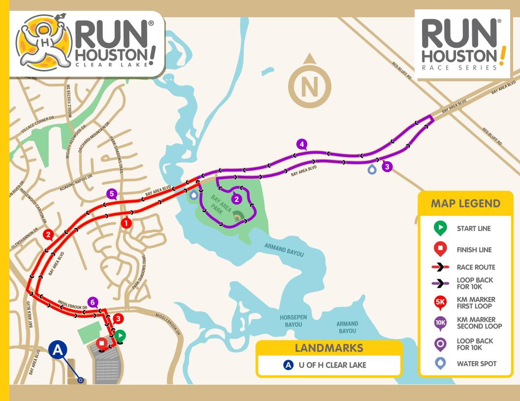 Run Houston! Clear Lake: Course