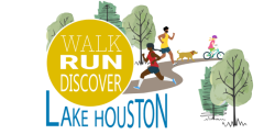 Walk Run Discover Lake Houston Logo