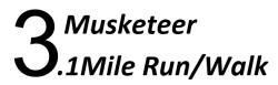 3 Musketeer 3.1 Mile Race