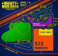 Mighty Mud Dash April 1st & 2nd 2017 Houston Premium Spectator