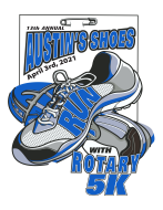 Austin's Shoes Run With Rotary 5K Logo